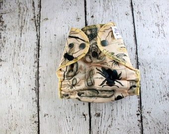 Newborn Cloth Diaper - Newborn AI2 Diaper - Newborn Diaper Cover - All In Two - Bee Cloth Diaper - Floral Diaper - Wasp Newborn Diaper Bugs