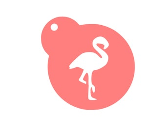 Flamingo Cookie Stencil, Flamingo Cake Stencil, Flamingo Sugar Cookie, Pink Flamingo Cookies, Luau Cookies, Flamingo Baking Stencil