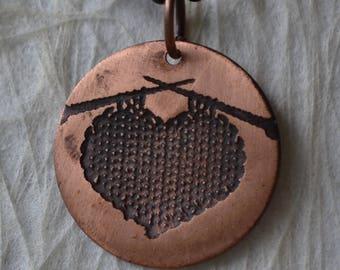 Knitted Heart Pendant