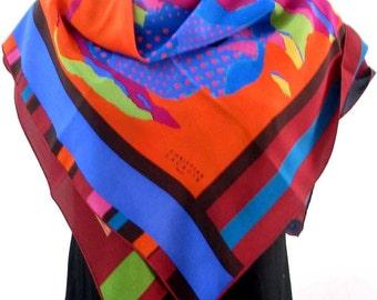 CHRISTIAN LACROIX, beautiful vintage silk scarf