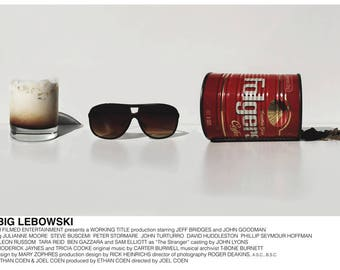 The Big Lebowski poster (Coen Brothers, 1998) [alternative movie poster; minimalist movie poster]