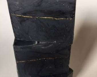 Gold Mine - Charcoal Soap, Natural Soap, Activated Charcoal Soap, Artisan Soap, Vegan Soap, Oily Skin