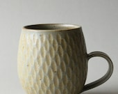 brownish light peppermint incised mug