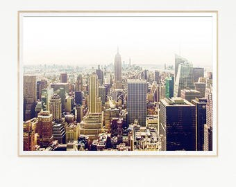 New York City Wall Deco Print Poster Art Landscape Photo Photography Skyline Retro Vintage Sun View Fashion EEUU United States Country 1019