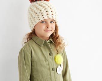 Kid's Super Chunky Pom Pom Hat