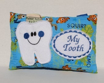 Personalized Tooth Fairy Pillow -  Tooth Fairy Pillow - Boys Tooth Fairy Pillow - Tooth Certificate - Boys Tooth Pillow - Fairy Dust