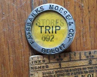 Fairbanks Morse & Co Employee Badge Beloit Metal
