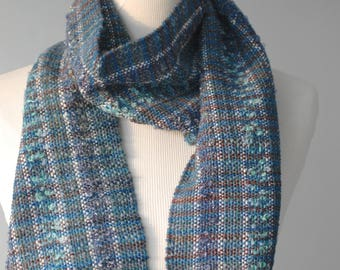 Blue#3 Handwoven Scarf
