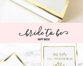 Engagement Gift Box for Her Soon to be Mrs Gift Box Gift for Bride Gift Newly Engaged Gift Engagement Gift for Best Friend (EB3171BPW) EMPTY
