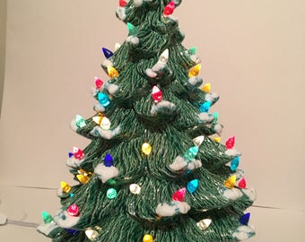 16 inch Christmas Tree with White base
