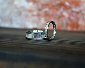 Antler Ring, Couple Rings, Tungsten Carbide Ring, Mens Ring, Womens Ring, Wedding Band, Antler Rings, Personalized Ring, Antler Wedding Band