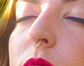 Indian Septum, Silver septum ring, septum piercing, septum piercing, silver tragus, piercing jewelry, nose jewelry, real septum jewelry