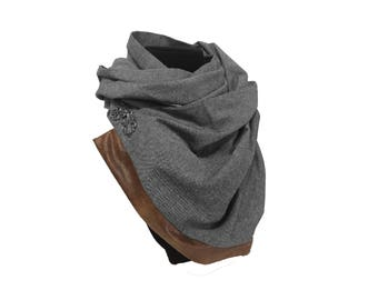Chambray Infinity Scarf