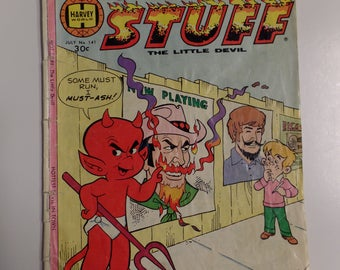 Harvey World Comics Hot Stuff The Little Devil # 141 July 1977 Vintage Cartoon Comic Book G+