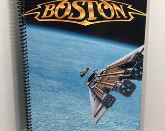 Boston Album Cover Notebook Handmade Spiral Journal