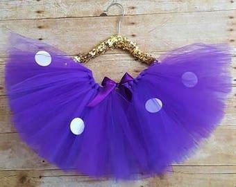 Baby Purple tutu/purple polka dot tutu/toddler tutu/baby polka dot tutus/handmade tutus/handmade baby tutus/custom tutus/custom baby clothes