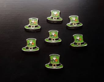 Leprechaun Hat Floating Ch for Floating Lockets-St. Patrick's Day Charm-Gift Ideas