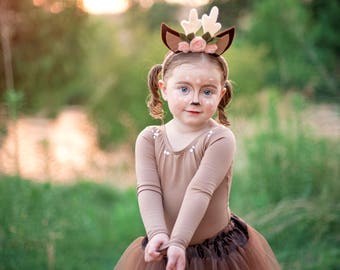 Deer Costume , Toddler Halloween Costume , Girls Woodland Costume, Baby Deer Halloween Costumes, Deer Tutu Costume, Woodland Birthday Outfit