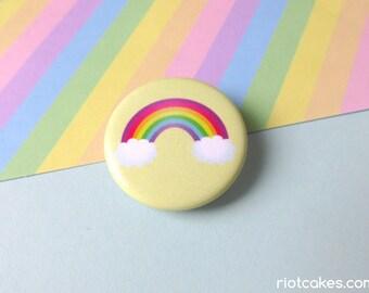 Lesbian & Gay Rainbow Pride Button