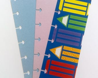 Page Marker, Planner Insert, Happy Planner Bookmarks, Upcycled Bookmark, Planner Accessories, Daily Bookmark, Teacher Bookmarks Set of 3