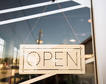 Open Sign, Business Sign, Shop Sign, Store Sign, Business Signage, Business Signs, Coffee Shop Sign, Wood Business Signs