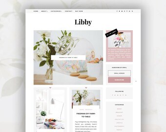 Responsive Blogger Template | Libby