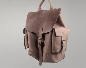 Leather backpack Women backpack Brown leather backpack  Brown rucksack Leather rucksack Travel bag Womens leather backpack Brown bag