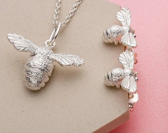 Siver Bee Necklace