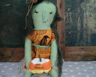 Halloween Harvest Witch Art Doll