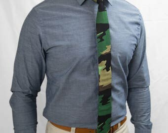 Camo skinny tie