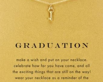 Graduation necklace with card (comes in silver or gold)