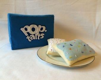Felt Toaster Pastries with Box, Set of 6, Felt Food, Play Food, Pop-Tarts