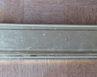 Antique French  Brass Letter Box.  Door Letter Slot.  Letter Drop