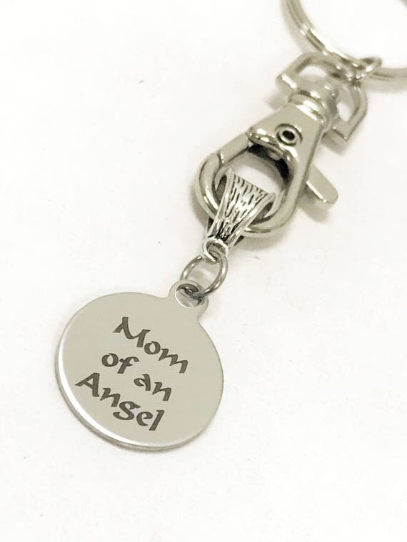 Miscarriage Gifts, Mom Of An Angel Keychain, Angel Baby Gifts, Miscarriage Memorial, Miscarriage Sympathy Gifts, Angel Mom Gifts, Child Loss