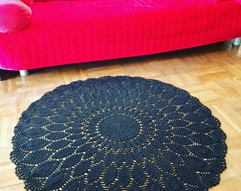 Rose cotton rug
