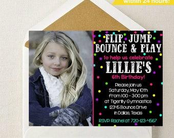 Bounce House Photo Invitation // Bounce Party Invitation // Bounce House Birthday // Bouncey House // Ball Pit Invitation // Ball Pit Invite