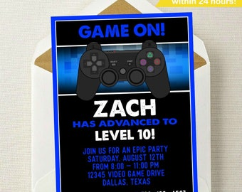 Video Game Invitation // Video Game Birthday // Gaming Invitation // Gamer Invitation // Video Game Party Invitation // Video Games Party