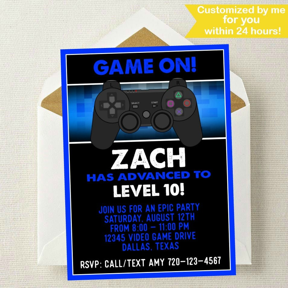 Video Game Invitation // Video Game Birthday // Gaming
