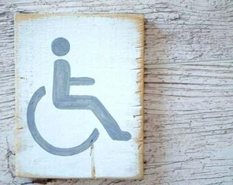 Bathroom Signs Restaurant handicapped sign   etsy