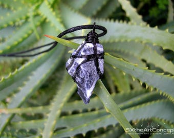 Sodalite rough raw pendant, blue unisex amulet necklace, EMF protection, calming gemstone, Sagittarius stone, gift for him, men jewelry