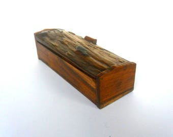 Wooden box, Rustic box, Natural box, Wood box, Wedding ring box, Driftwood Box, Storage Box, Reclaimed Wooden Box, Gift, Home Decor