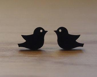 Pretty little dove earrings blue / green / black / white
