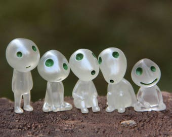 Princess Mononoke Studio Ghibli Miniature Terrarium Kodama Figurine DIY craft supply