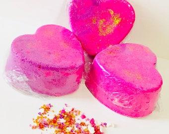 Love Spell Shimmering Heart Bath Bomb