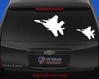 F-15E Strike Eagle - Angle 1 - Vinyl Decal / Sticker