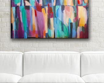 Original Wall Art, Large Wall Art, Abstract Wall Art, Abstract Painting, Contemporary Painting, Purple, Blush, Contemporary Art, Modern Art