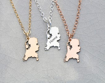 SALE • Netherlands Country Necklace • Netherlands Jewelry Europe Necklace • Custom Friend Gift Location Jewelry Personalized Country Charm
