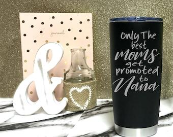Grandma Mug - Nana Travel Mug - Mimi Coffee Tumbler - New Grandma Gift - Pregnancy Announcement Mother's day gift - Engraved Stainless Steel