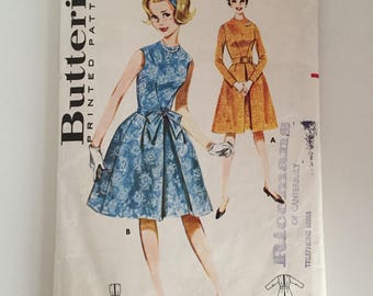 Butterick 2502 1960s Dress Sewing Pattern Size 12 Bust 31""