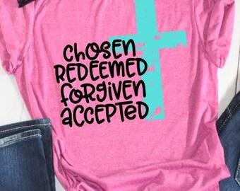 Cross Sayings Tshirt // Christian Shirt // Saying Tshirt // Cross Tshirt // Plus Size Religious Tshirt // Cross Shirt // Christian Shirt